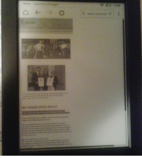 View with kindle paperwhite 8.generation